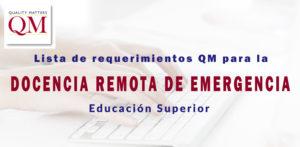 Webinar sobre lista de requerimientos de QM para docencia de emergencia
