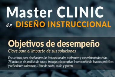 Master Clinic en diseñon instruccional por el Dr. Fernando Senior